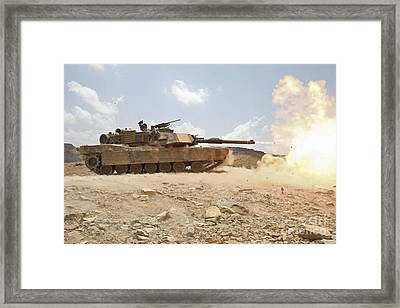 Marines Bombard Through A Live Fire Framed Print by Stocktrek Images