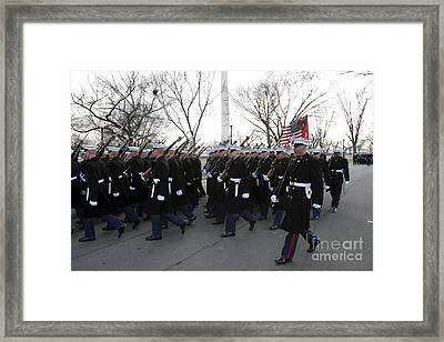 Marines Participate In The 2009 Framed Print by Stocktrek Images