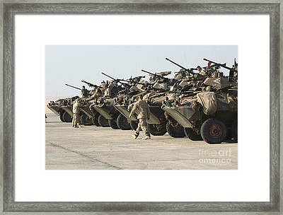 Marines Perform Maintenance On Light Framed Print by Stocktrek Images