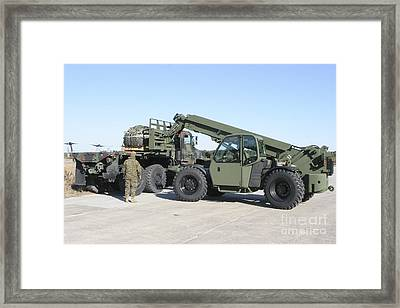 Marines Pick Up Palletized Logistics Framed Print