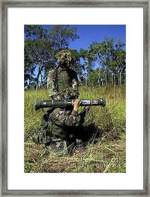 Marines Prepare To Fire Their M136 At4 Framed Print by Stocktrek Images