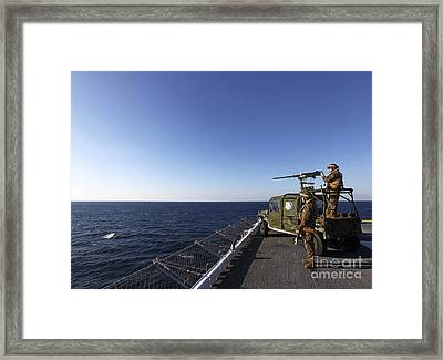 Marines Provide Defense Security Framed Print by Stocktrek Images