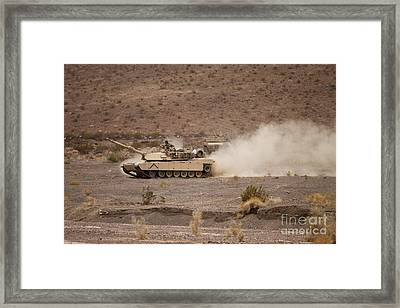 Marines Roll Through The Combat Center Framed Print