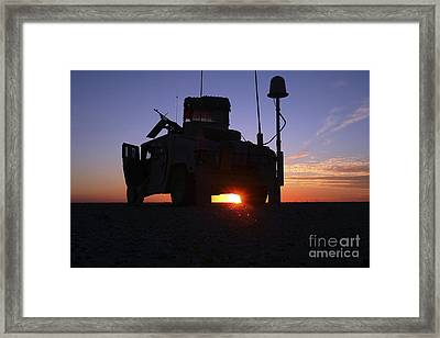Marines Take Up A Security Position Framed Print by Stocktrek Images