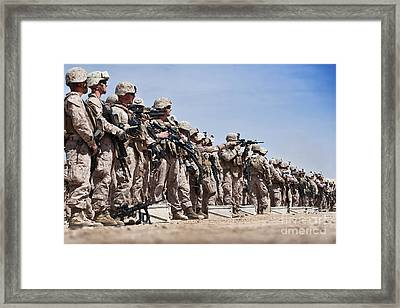 Marines Verify The Battle Sight Zeroes Framed Print