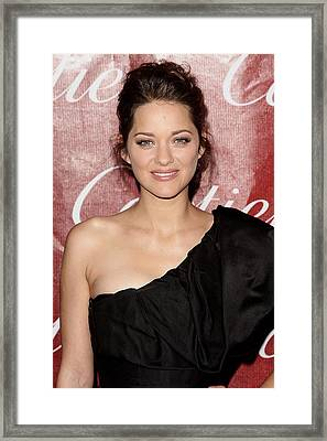 Marion Cotillard At Arrivals For 21st Framed Print by Everett