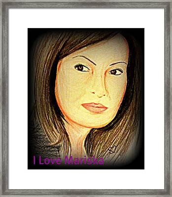 Mariska  Framed Print by Shreena Dew