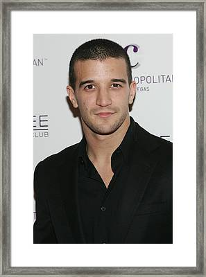 Mark Ballas At Arrivals For Kim Framed Print by Everett