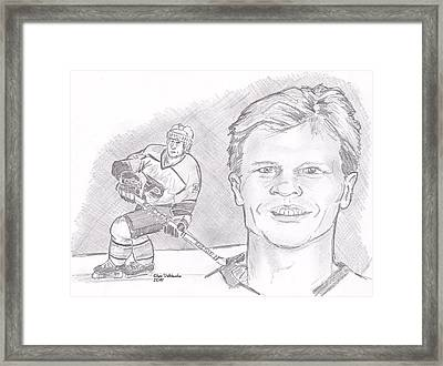 Mark Howe Framed Print by Chris  DelVecchio