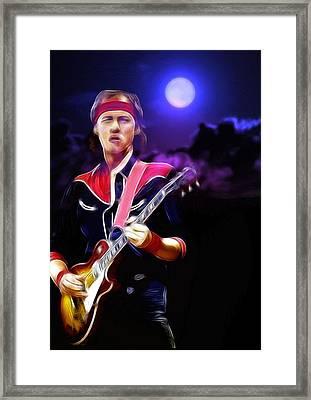 Mark Knopfler Guitar Hero Framed Print by Steve K