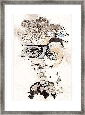 Mark M. Mellon With Glasses Framed Print by Mark M  Mellon