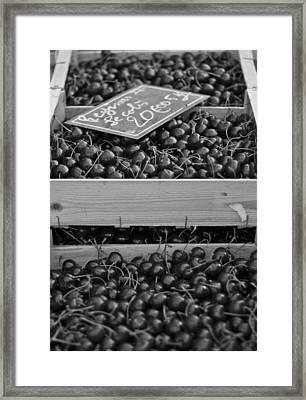 Market Cherries Framed Print by Georgia Fowler