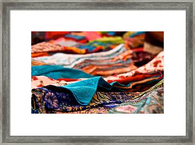Market Colors In Mauritius Framed Print by Renata Apanaviciene
