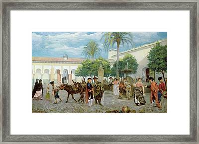Market Day In Spain Framed Print by Filippo Baratti