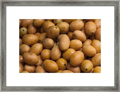 Market Mangoes II Framed Print by Zoe Ferrie