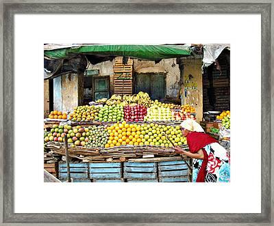Market Of Djibuti-1 Framed Print by Jenny Senra Pampin