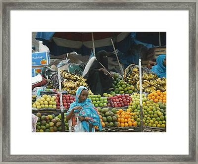 Market Of Djibuti-2 Framed Print by Jenny Senra Pampin