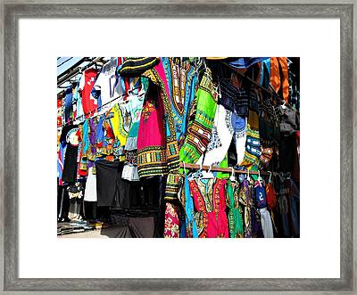 Market Of Djibuti With More Colors Framed Print by Jenny Senra Pampin