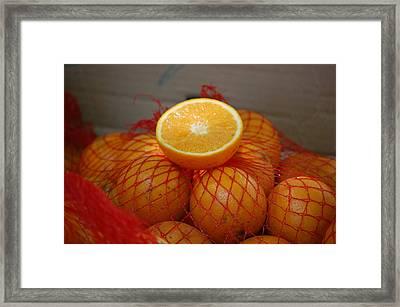 Market Oranges Framed Print by Dickon Thompson