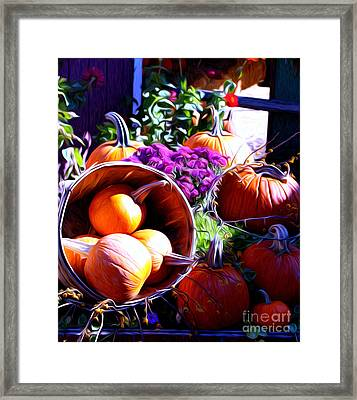 Framed Print featuring the photograph Market Place by Anne Raczkowski