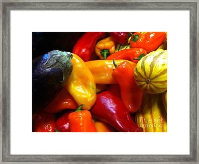 Market Produce Framed Print