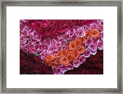 Market Roses Framed Print