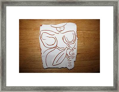 Market Seller 1 Framed Print by Gloria Ssali