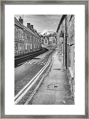 Market Street Abbotsbury Dorset Framed Print