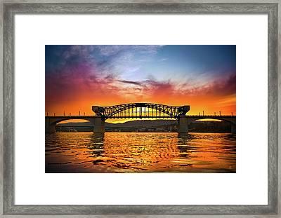 Market Street Bridge Framed Print by Steven Llorca