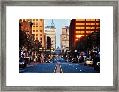 Market Street In The Morning Framed Print