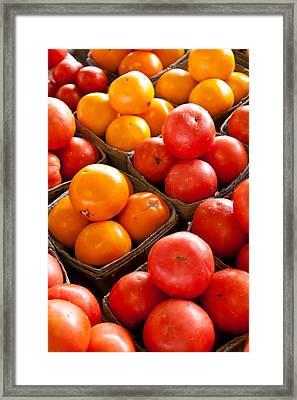 Market Tomatoes Framed Print by Lauri Novak