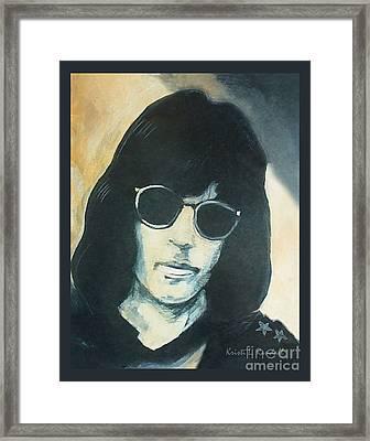 Marky Ramone The Ramones Portrait Framed Print by Kristi L Randall