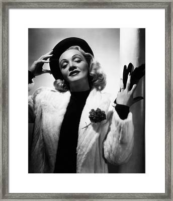 Marlene Dietrich, Ca. Early 1940s Framed Print by Everett