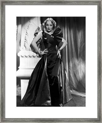 Marlene Dietrich Full Length Portrait Framed Print by Everett