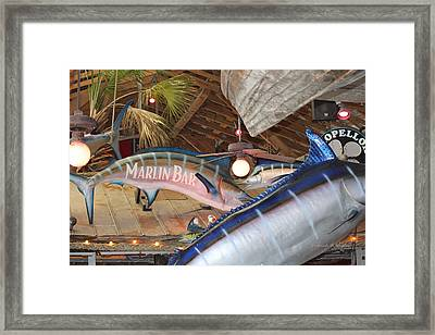 Marlin Bar Framed Print