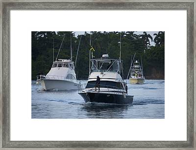 Marlin Fishing Tournament At West Framed Print by Michael Melford