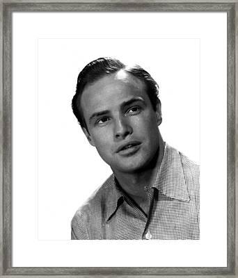 Marlon Brando, 1953 Framed Print