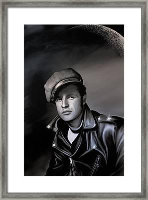 Marlon Brando  Framed Print by Andrzej Szczerski