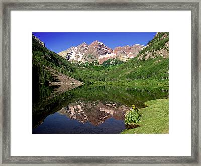 Maroon Bells Shoreline Framed Print