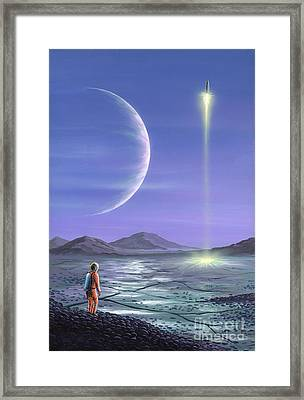 Marooned Astronaut Framed Print by Richard Bizley and Photo Researchers