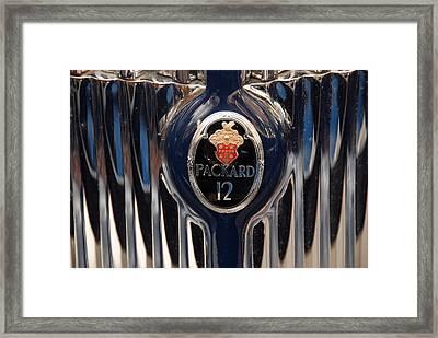 Framed Print featuring the photograph Marque Packard 12 by John Schneider