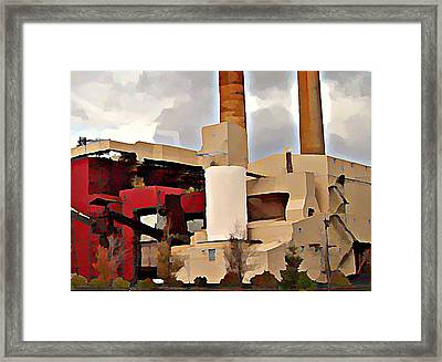 Framed Print featuring the photograph Marquette Power by MJ Olsen