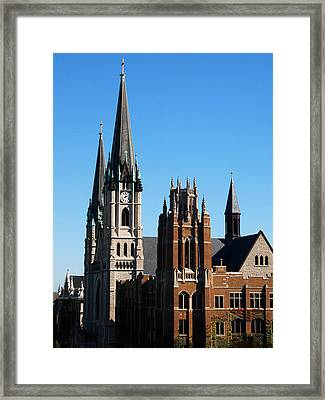 Marquette Towers Of Gesu Church And Marquette Hall Framed Print