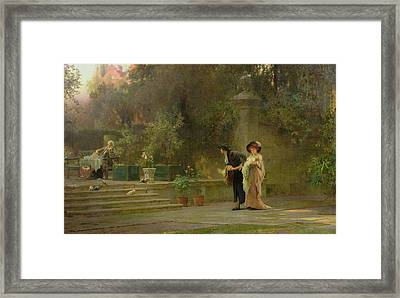 Married For Love Framed Print by Marcus Stone