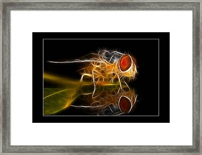 Framed Print featuring the digital art Mars Fly 02 by Kevin Chippindall