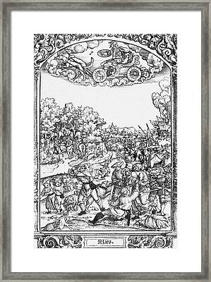 Mars, Roman God Of War Framed Print by Photo Researchers