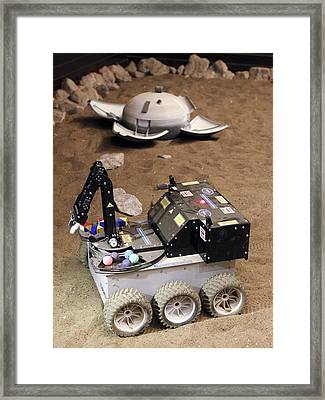 Mars Rover Testing Framed Print by Ria Novosti