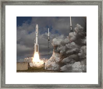 Mars Science Laboratory Rover Curiosity Framed Print by NASA Scott Andrews Canon