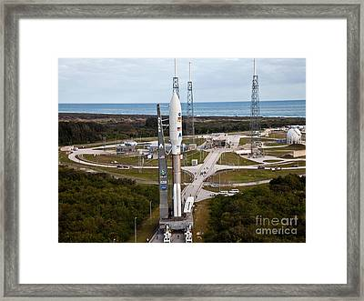 Mars Science Laboratory Rover Curiosity Framed Print by Pat Corkery/United Launch Alliance