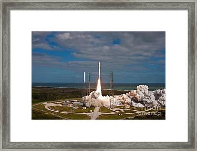 Mars Science Laboratory Rover Curiosity Framed Print by United Launch Alliance